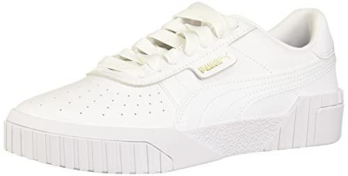 PUMA womens Cali Sneaker, White, 6.5 US