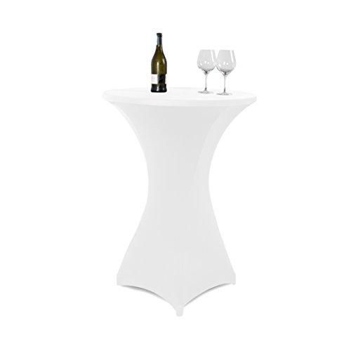 Vanage VG-0111 Fodera Tavolo, Bianco, 80x80x120 cm