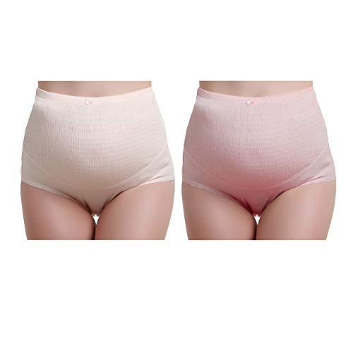 Women's clothing Culotte De Maternité, sous-VêTements Sexy en Coton Plissé Respirant Respirant Abdominale Taille Haute Taille Ajustable, sous-VêTements FéMinins De Grande Taille Pouvant