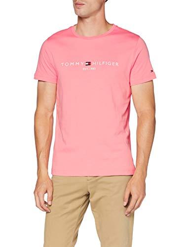 Tommy Hilfiger Tommy Logo tee Camiseta Deporte, Rosa (Pink Grapefruit TH8), Medium para Hombre