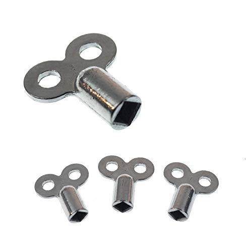 Heizungsentlüftungsschlüssel | 2 Stk. | passend für alle Heizkörper | kein abbrechen | einfaches entlüften | verzinkt | hochwertig verarbeitet | Heizkörper Entlüftungsschlüssel