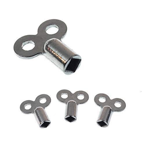 Heizungsentlüftungsschlüssel | 4 Stk. | passend für alle Heizkörper | kein abbrechen | einfaches entlüften | verzinkt | hochwertig verarbeitet | Heizkörper Entlüftungsschlüssel