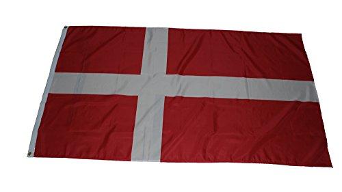 Flaggenking Rey Dinamarca Bandera Bandera 150x 90x 1cm, diseño de Flores, 17008