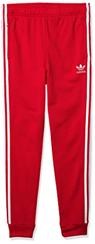 adidas Originals Kid's Superstar Track Pants, lush red/White, M