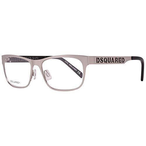 DSquared Dsquared2 Brillengestelle Dq5097 017 54 Monturas de gafas, Plateado (Silber), 56 para Hombre
