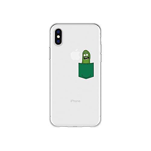 Divertente custodia trasparente del telefono per iPhone 6S 5S SE 7 8 Plus X XS carino cover posteriore morbida TPU per iPhone 11 pro -A050359-per iPhone 8P