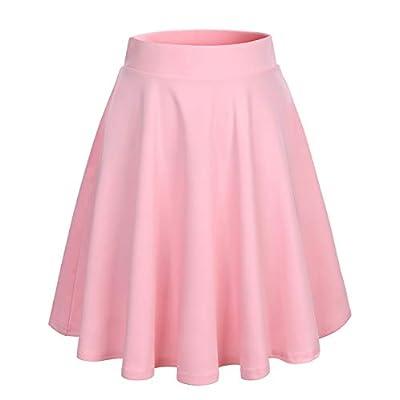 Amazon - 70% Off on  Skirt for Women Mini Skirts Versatile A-line Basic Stretchy Flared Skater Skirt