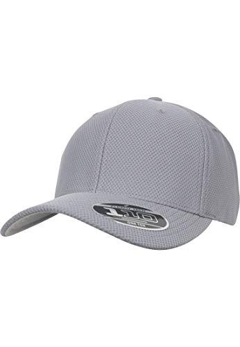 Flexfit Gorra Unisex para Hombre y Mujer 110 Hybrid Basecap Sport & Streetwear Cap Gris Talla única