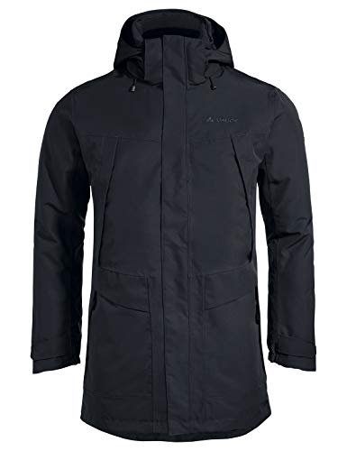 VAUDE Herren Jacke Idris Wool Parka, black, XL, 41562