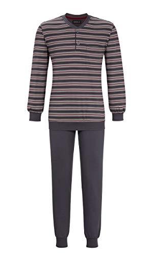 Ringella Herren Pyjama mit Bündchen Iron 54 9541223, Iron, 54