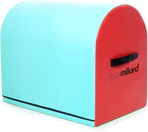 Milliard Gymnastics Mailbox Tumbling Aid Trainer, Spotting Equipment, 24x16x19.5 inches Blue with Red