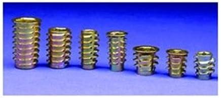 .500 Lg. With Head 1 Each 1//4-20 Int Brass Thd. E-Z Lok Press Inserts for Plastics