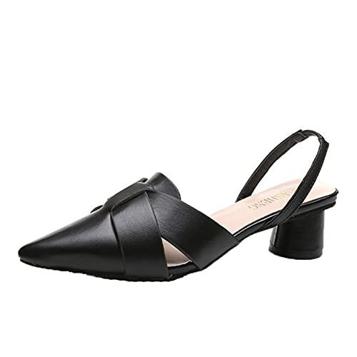 Sandali da donna Breathe Pointed Close Toe Summer Gladiator Beach Shoes Tacco rotondo Calzature Street Slingback Leisure Sandals