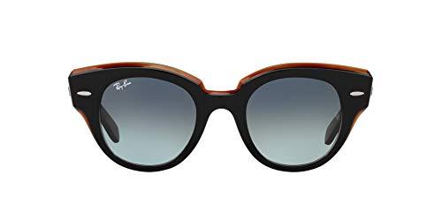 Ray-Ban 0RB2192 Gafas, BLACK ON TRANSPARENT BROWN, 47 Unisex Adulto