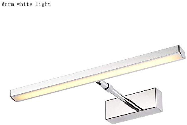 Badewanne Spiegel Lampen - Bad wasserdicht Anti-fog-LED-Spiegel Scheinwerfer - Make-up-Spiegel Scheinwerfer (Farbe  Warmes, weies Licht-49cm-12 W)