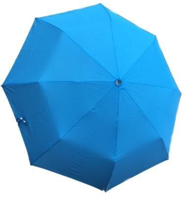 YISAMA Ombrello Pieghevole Antivento Con Torcia Luce Led Girevole,Apertura e Chiusura Automatiche Colore Blu