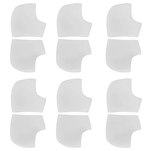 Protectores de talón, manga de talón, protector de talón, almohadillas para el talón, 6 pares para mujeres, para senderismo, para hombres, para caminar, para hacer ejercicio,(White with holes)