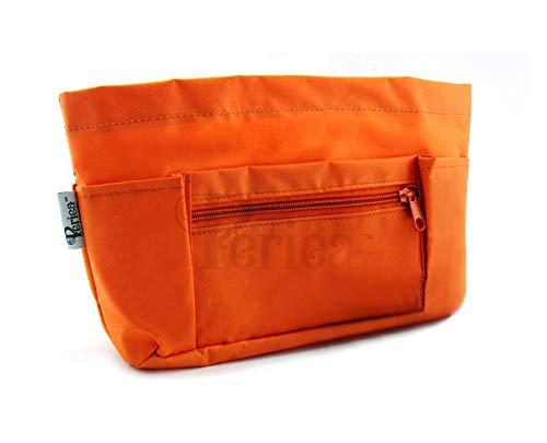Periea Handtaschenordner+GRATIS SCHLÜSSELCLIP, Einlage, Einsatz 9 Fächer medium 26x18x9cm - Chesa orange