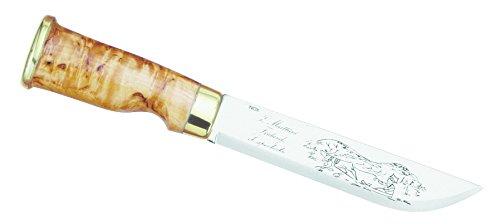 Marttiini Erwachsene Lappland-Messer, Klinge 15 cm, Birkenholz, Lederscheide Jagd-/outdoormesser, Mehrfarbig, 26.5 cm