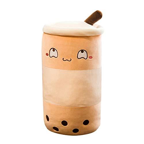 Cojín cilíndrico de peluche con diseño de burbujas de té, ideal como regalo de cumpleaños