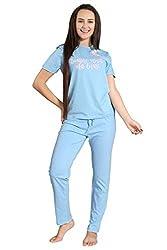 PIU Cute Pajama Party Dress for Women/Girls in Cotton/Soft Rayon Cotton Fabric Room wear/Night Wear.