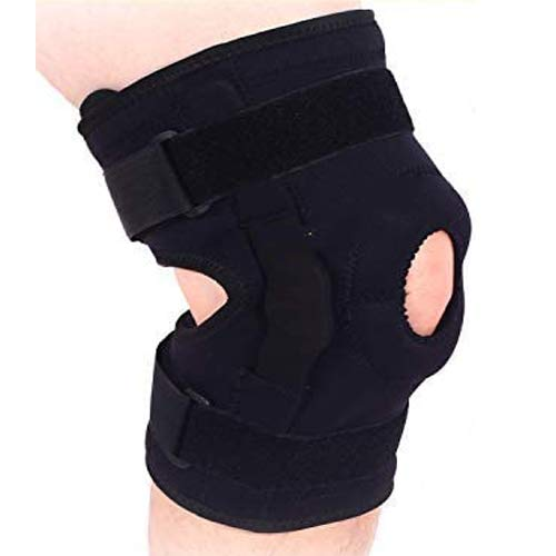 DISUPPO XXLarge Knee Brace for knee support, Plus Size Knee Brace Support with Side Stabilizers and Patella Gel Pads,Relieves ACL, LCL, MCL, Meniscus Tear, Arthritis, Tendonitis Pain