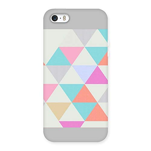 WishKart Colour-Full Traingle Back case Cover Compatible for iphone5/5s