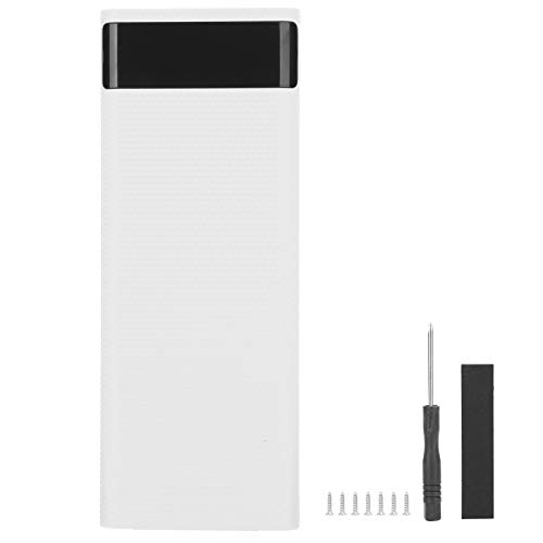 T osuny Lightweight 8 x 18650 Battery Storage Box Holder/Organizer/Container, Plastic Healthy Case with Fast Charging, Plug and Play, Compatible with 99% of USB Devices(White)