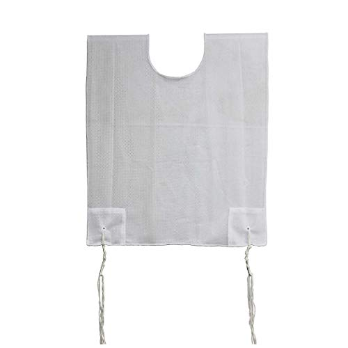 Zion Judaica 100% Polyester Quality Mesh Tzitzit Garment Certified Kosher Imported from Israel (1, Adult Small / 20) White