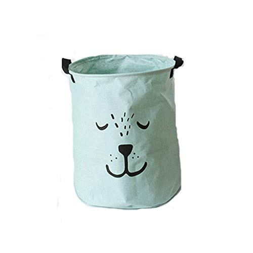 QTCD Large Sized Canvas Storage Baskets with Handle, Collapsible Convenient Home Organizer Containers for Kids Toys Baby Clothing (Color : Green) fanghua (Color : Green)
