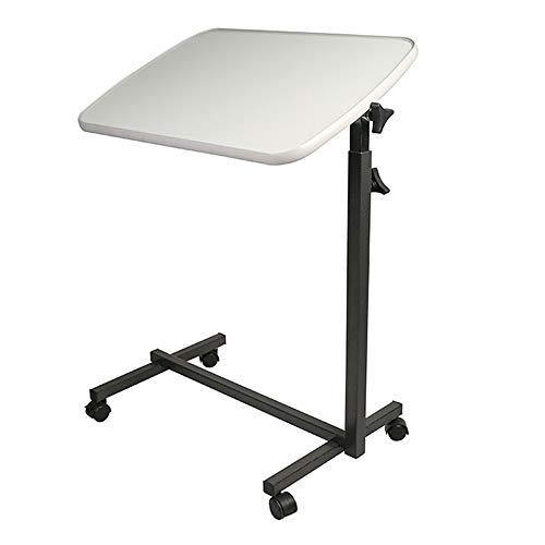 LVZAIXI Table d'ordinateur Portable latérale multifonctionnelle Mobile de Table de Chevet de canapé réglable en Hauteur avec 4 roulettes verrouillables, 605 * 405 * 715-1100mm