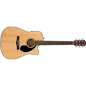 Fender CD-60 SCE NAT Dreadnought Semi Acoustic Guitar 3