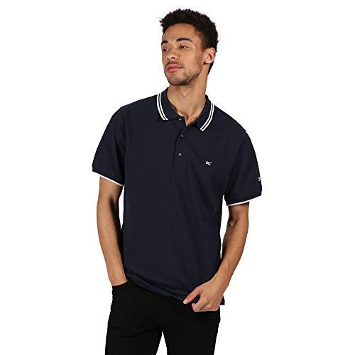 Regatta Polo 100% Coton Talcott II boutonné au Cou T-Shirts Vests Homme, Navy/White, FR (Taille Fabricant : 5XL)