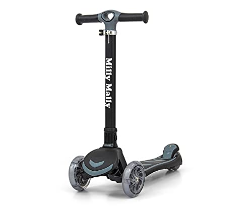 Milly Mally Boogie - Patinete con luz LED, color negro