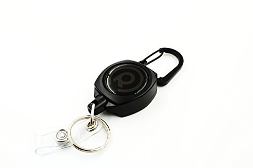 Rel Amigo Heavy Duty Retractable ID Badge Holder and Key Reel with Kevlar Cord and Carabiner