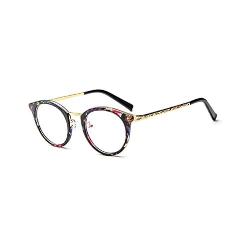 CloverGorge Gafas de Sol de Espejo de diseño de Marca Vintage prácticas y sólidas de Moda Gafas de Sol de Lentes Planas Reflectantes de Metal