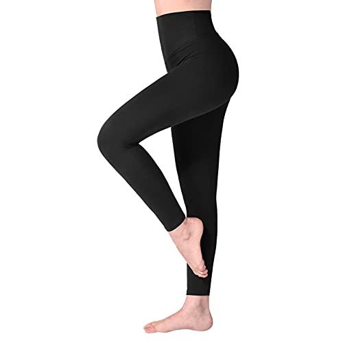 SINOPHANT Leggins Vita Alta Donna, Leggings Donna Fitness Pantaloni Yoga Controllo della Pancia Opaco Elastici Morbido per Sportivi o Casual