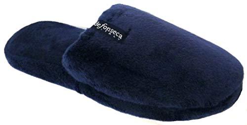 de fonseca Ciabatte Pantofole Invernali Donna MOD. Roma Top P W15 Blu (40/41)