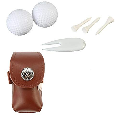 CHICIRIS Bolsa de Golf para Golf Bolsa Deportiva con Clip de Metal para Accesorios de Soporte para Camisetas de Golf (2 Colores)(café)