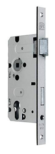 BKS Standard Zimmer Türschloss für Profilzylinder 55/72/8, Stulp: 20 x 235mm eckig, DIN Rechts incl. SN-TEC® Montageset