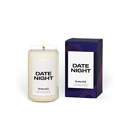 Homesick Scented Candle, Date Night - Scents of Fig, Cashmere, Red Currant, 13.75 oz