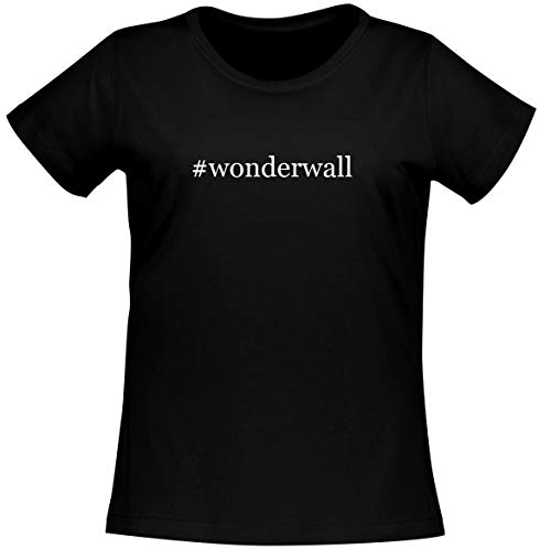 #wonderwall - Women's Soft Comfortable Hashtag Short Sleeve T-Shirt, Black, XX-Large