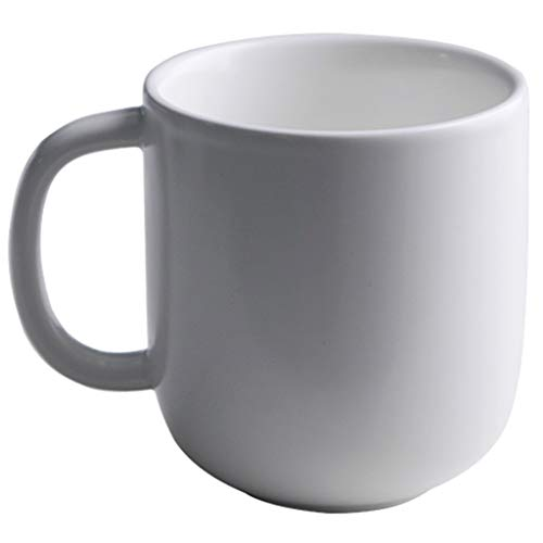 Bodum Kaffee- Teegläser Kreative kaffeetasse große kapazität Kaffee Tasse Becher einfache Keramik (Color : Weiß)
