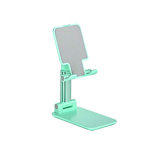 Phone Tablet Stand, Foldable Adjustable Compact Desktop Phone Tablet Stand Holder Cradle Dock, Compatible with Super Stable for i Pad, Tablet, i Phone XS XR 8 X 7 6 6s Plus Green