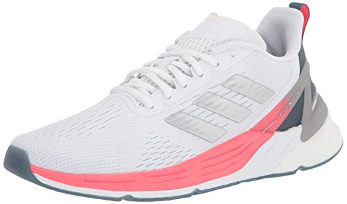 adidas Women's Response Super Running Shoe, White/Silver Metallic/Blue, 8