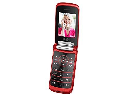 Trevi FLEX 50 GT Telefono Cellulare per Anziani Senior a Conchiglia con Tasti Grandi, Grande Display LCD da 2.4 , Funzione Chiamata Rapida, Bluetooth, Rosso