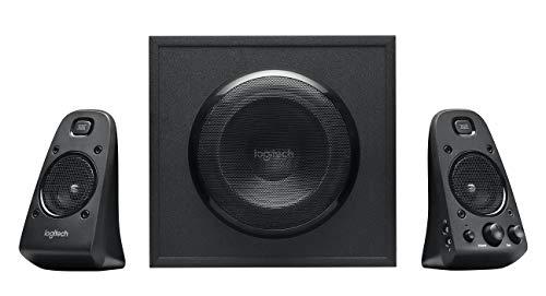 Logitech Z623 Lautsprecher-System mit Subwoofer, Satter Bass, 400 Watt Spitzenleistung, THX-Zertifiziert, 3,5 mm & Cinch-Eingänge, Multi-Device, UK Stecker, PC/PS4/Xbox/DVD-Player/TV/Smartphone/Tablet