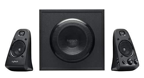 Logitech Z623 THX 2.1 Speaker System with Subwoofer, THX Certified Audio, 400 Watts Peak Power, Deep Bass, Multi Device, 3.5mm & RCA Inputs, UK Plug, PC/PS4/Xbox/DVD Player/TV/Smartphone/Tablet, Black