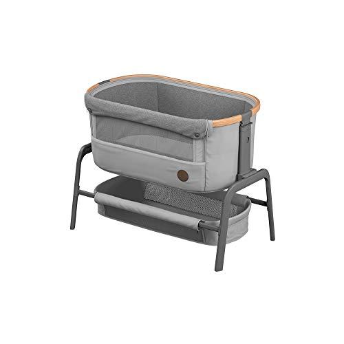 Maxi-Cosi Iora Cuna Colecho Regulable Multialturas, Reclinable con funcion de deslizamiento sencillo, Colchón incluido, Cuna bebé 0 meses - 9 kg, Gris (Essential Grey)