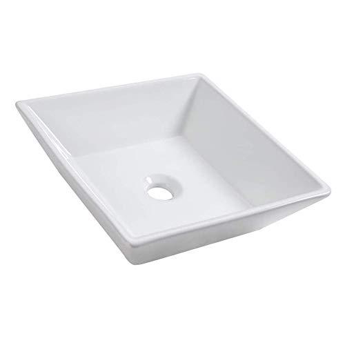 Discover Bargain Square Above Counter Porcelain Ceramic Bathroom Vessel Vanity Sink Art Basin